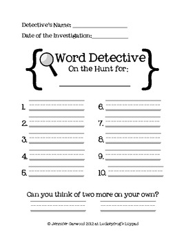 http://www.teacherspayteachers.com/Product/Word-Detective-Center-Freebie-566666