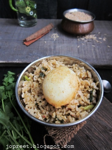 Egg Biriyani Using Brown Basmati Rice