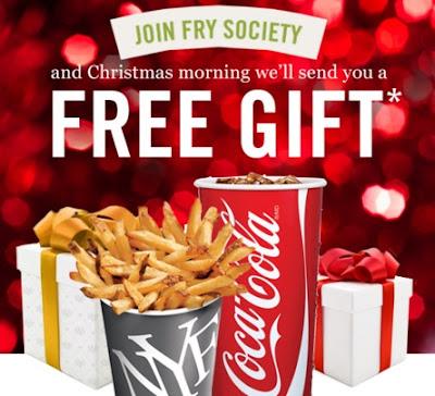 New York Fries Free Chrismas Gift