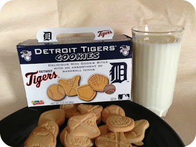 Detroit Tigers Cookies and milk