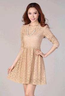 Model Baju Dress Brokat Lengan Panjang Anak Remaja