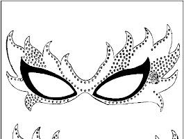 Venetian Mardi Gras Mask Coloring