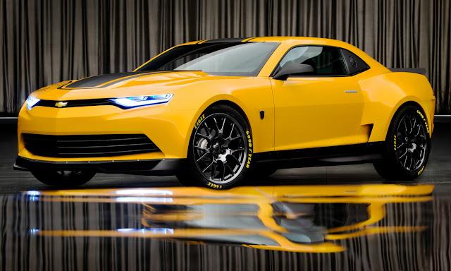 Camaro Bumblebee Concept 2014 , modelo que dará origem ao conhecido