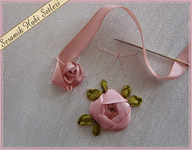how to make ribbon embroidery roses