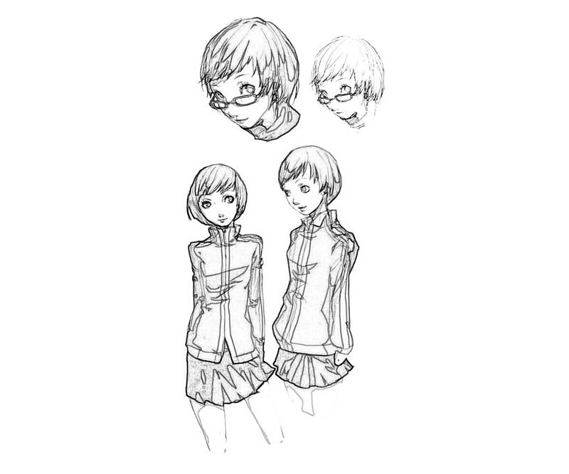 chie-satonaka-skecth-coloring-pages