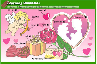 ENGLISH IS FUN 2: VALENTINE´S WORDS by learning chocolate