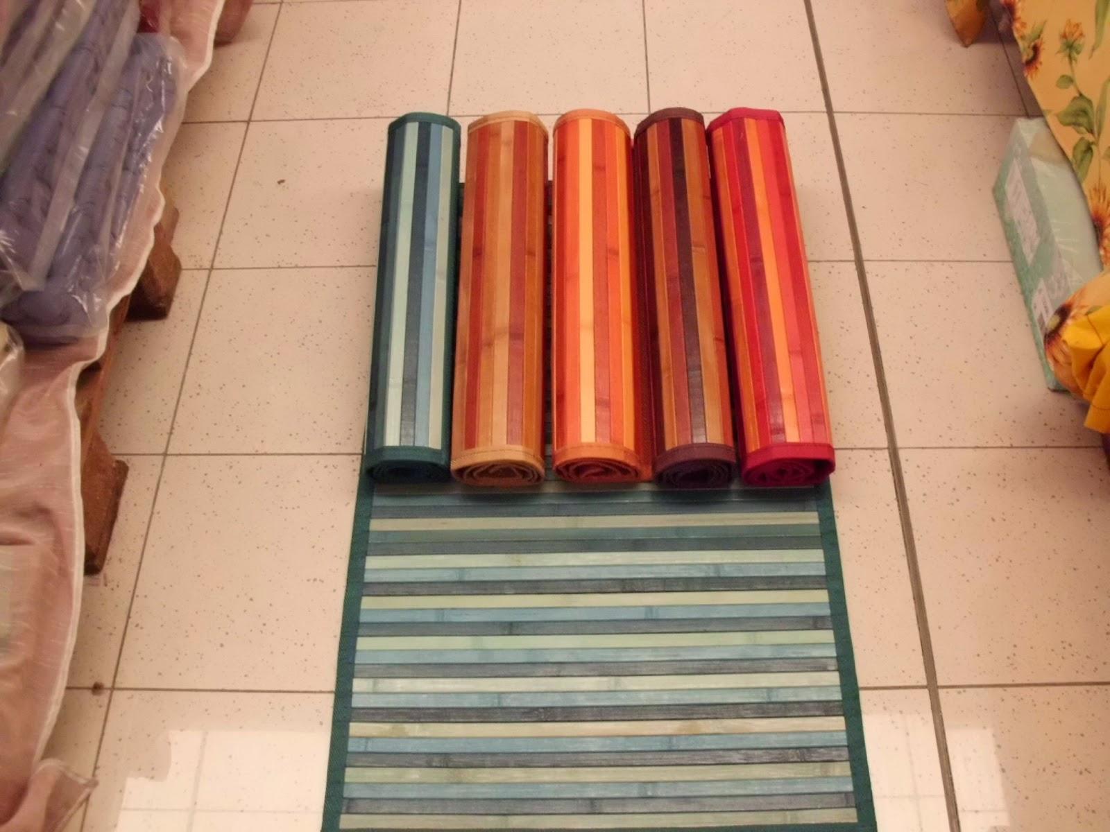 1 di 3 tappeto cucina in legno bamboo vintage unito rosso. sono