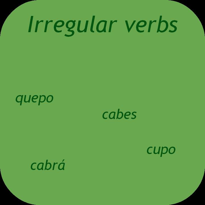Learn Spanish irregular verbs. Visit www.soeasyspanish.com
