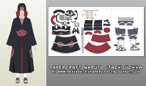 Papercraft Naruto's rogue ninja Itachi Uchiha!