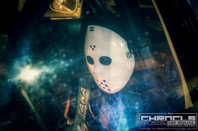 Kanjo, maska na twarz, JDM, Japonia, wyścigi uliczne, 環状族