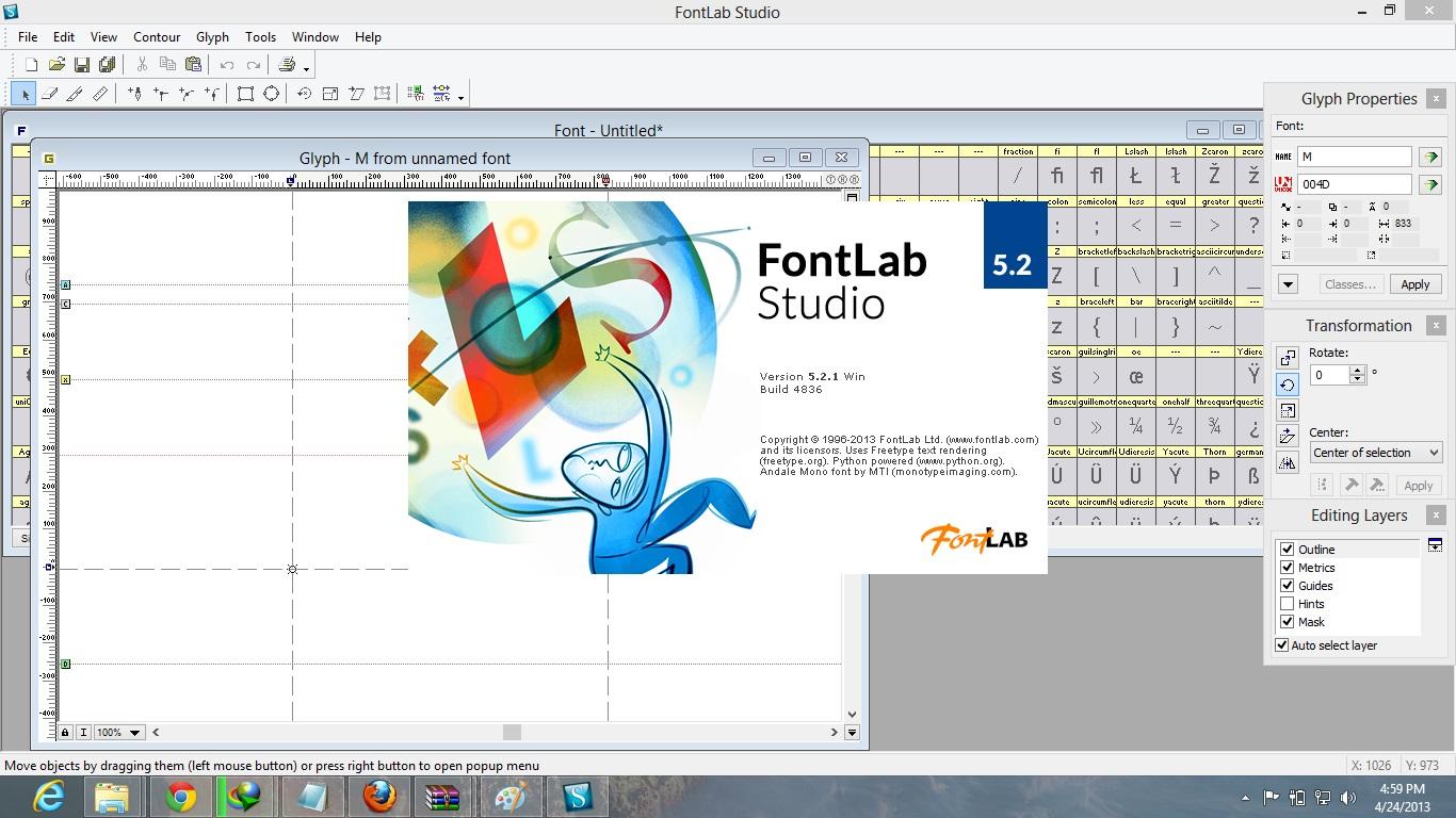 FontLab Studio 5.2 Full With Crack