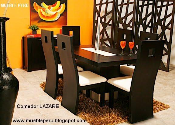 Mueble peru modernos comedores de acero for Sillas comedor elegantes