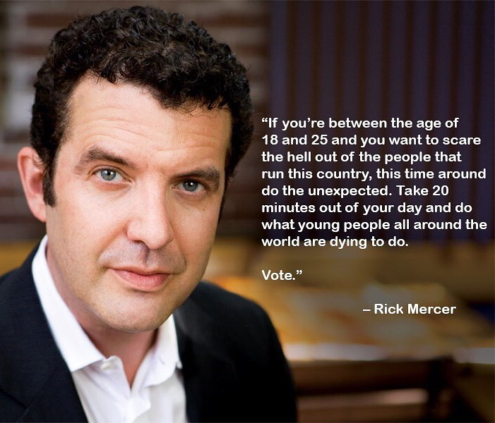 Image result for rick mercer vote