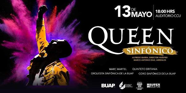 QUEEN SINFÓNICO, MARC MARTEL Auditorio del C. C. U. Puebla Mayo 13