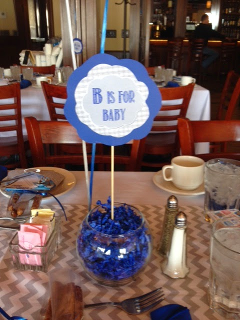 B is for Boy Baby Shower Centerpieces