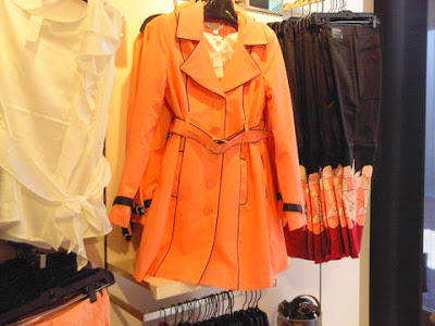 NY & Co trench coat with faux leather piping