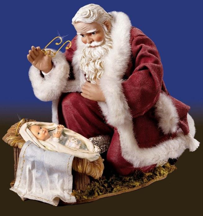 Santa Visits Baby Jesus