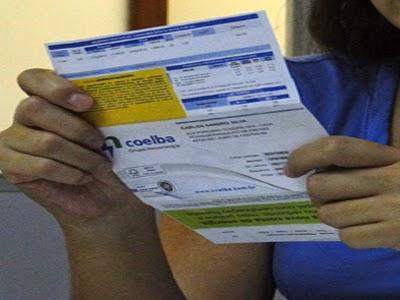 Conta de energia na Bahia subirá 15% na próxima semana.
