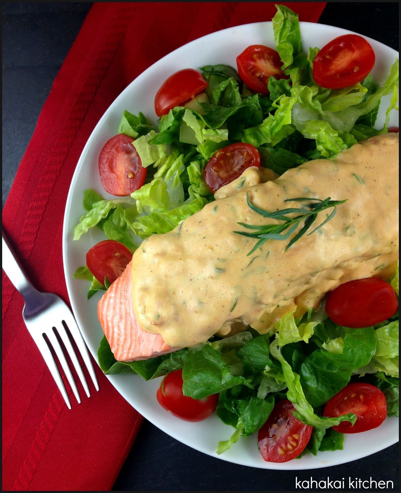 Salmon With Bearnaise Sauce Unique Of Poached Salmon with Bearnaise Sauce Photo