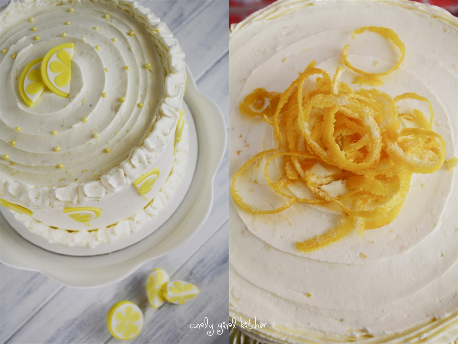 curly girl kitchen lemon cakes for him and her