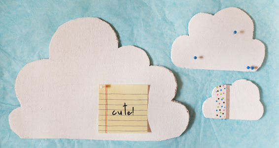 Vivid Please: DIY: How To Make A Cork Cloud Notice Board