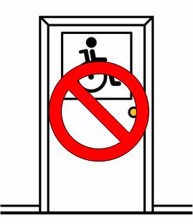 Pictograma de ARASAAC que anuncia un servizo ao que se lle engadiu o símbolo de prohibido