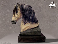 Busto de caballo Spanish Mustang tipo Kiger - Adat