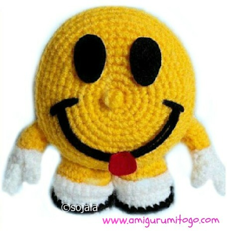 Crochet Amigurumi Smiley Faces : Smiley Happy Face Free Crochet Pattern ~ Amigurumi To Go