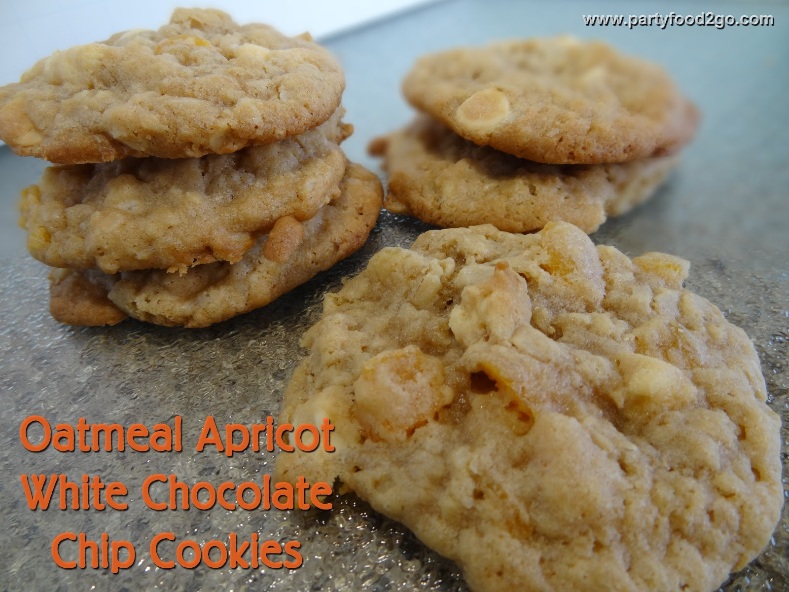 Oatmeal Apricot and White Chocolate Cookies