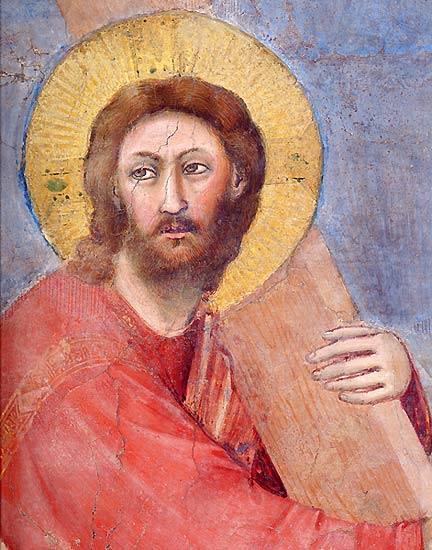 Jesús cargando la cruz.