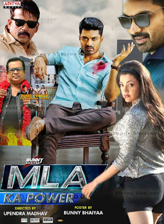 Poster Of MLA Ka Power In Hindi Dubbed 300MB Compressed Small Size Pc Movie Free Download Only At exp3rto.com