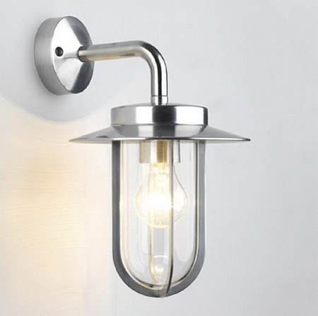 Nickel Montparnasse outdoor wall lamp, the Astro 0484 nickel fitting