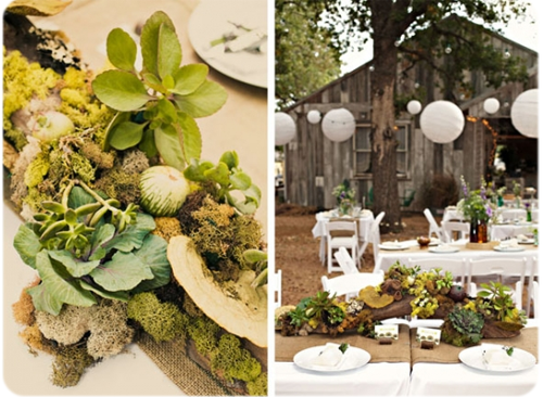 Silver lining by l 39 atelier 5 decor trends for 2012 - Decoration nature mariage ...