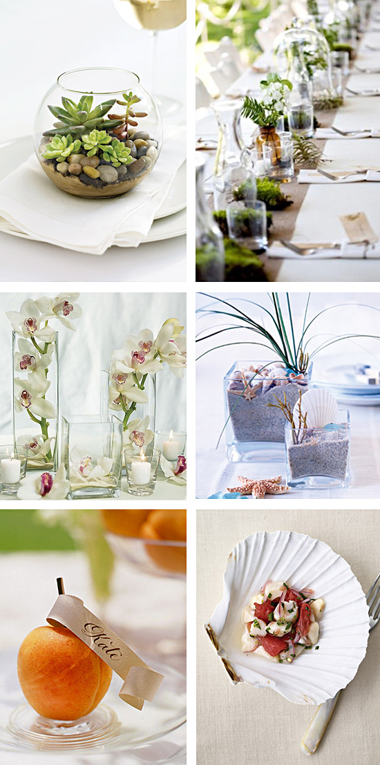 Wedding Reception Tropical Centerpiece Ideas