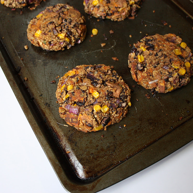 Sweet Potato Black Bean Veggie Burgers - Get Off Your Tush ...