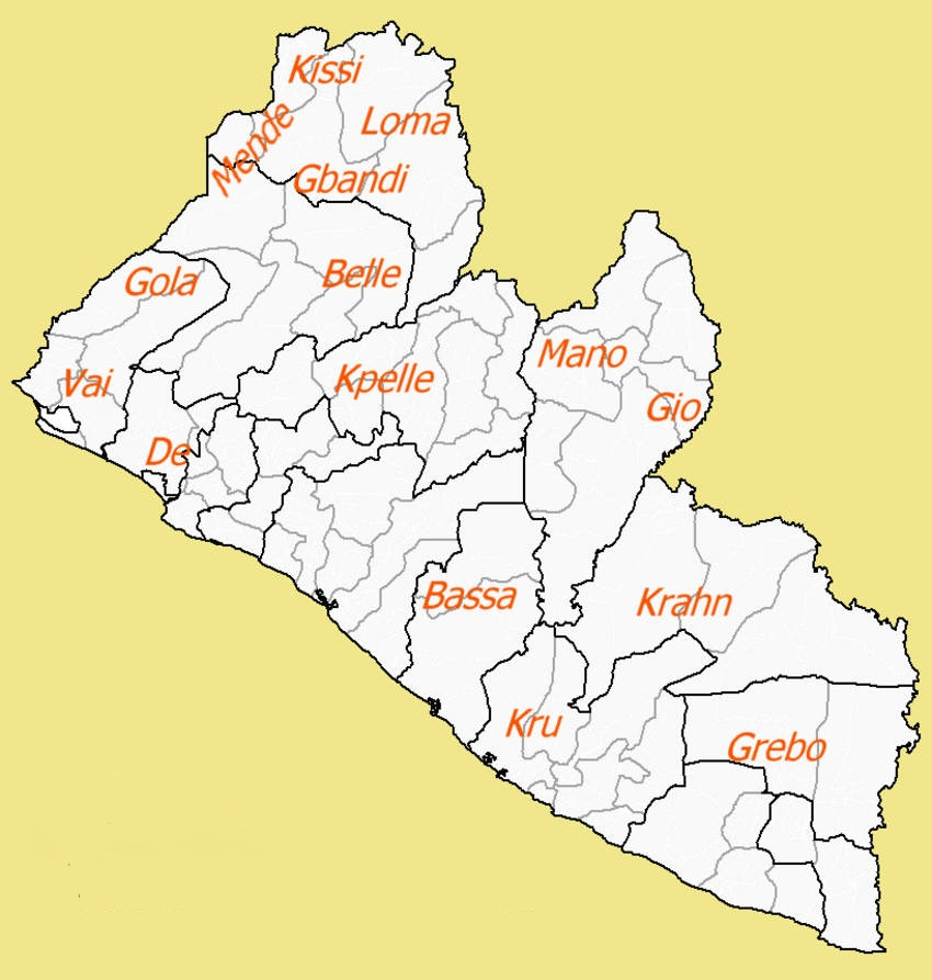 Blogging Without Maps The People Groups Of Liberia - Liberia map