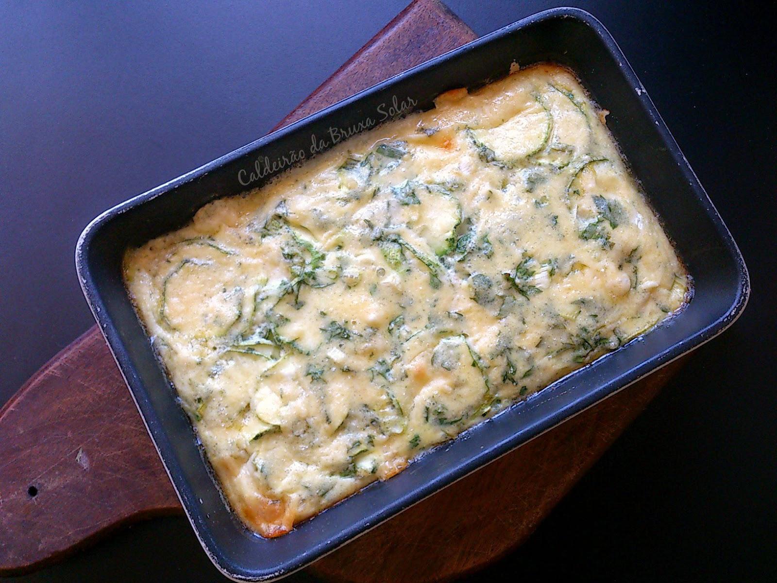 Clafoutis de abobrinha e queijo
