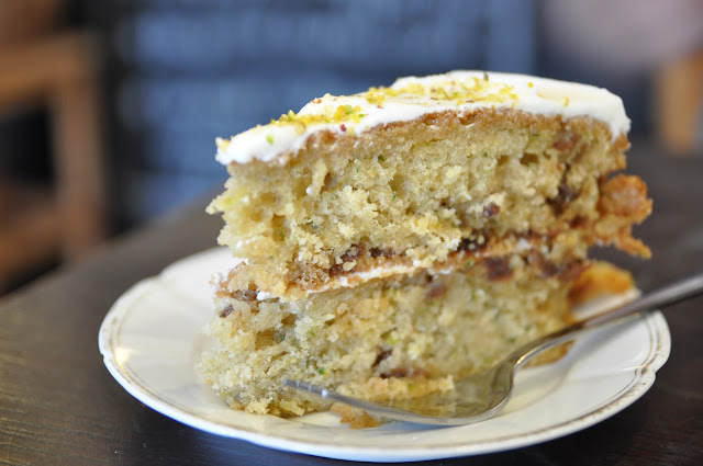 Haggerston Tearoom pistachio courgette cake Victoria Yum