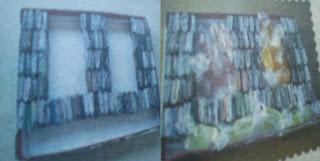 seni kerajinan barang bekas, kertas bekas, karton bekas, kardus bekas.