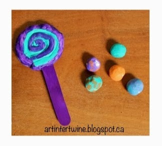 Art Intertwine - Lollipop and Gumball Art Activity