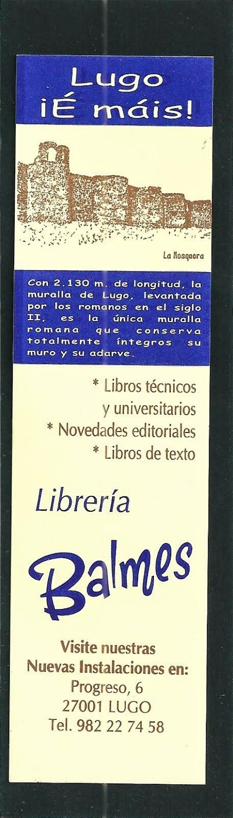 MARCAPÁGINAS LIBRERÍA BALMES,