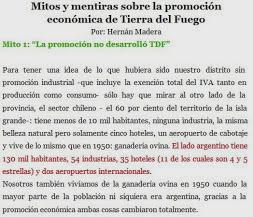 """Mitos Sobre la Promoción Económica de TDF y del """"Impuestazo Tecnológico"""""""