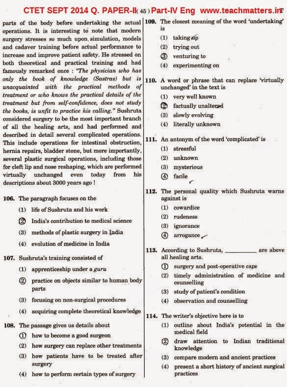 CTET SEPT 2014 Solved Q. PAPER-II Part-4 Eng-iii.image