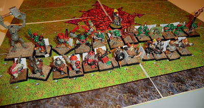 Blood bowl, old miniatures, orc, dwarf