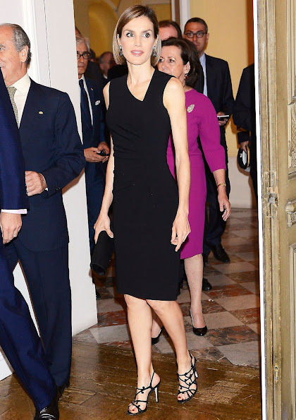 Queen Letizia of Spain attended a reception and meeting with the Spanish community at the residence of the Spanish ambassador to France
