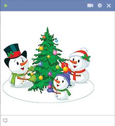 Facebook Snowmen Stickers