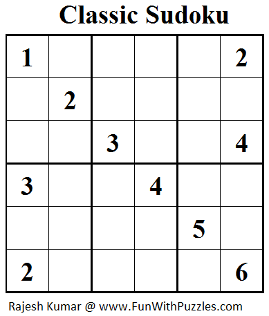 Classic Sudoku (Mini Sudoku Series #45)