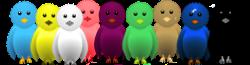 تغير اللون الطيور