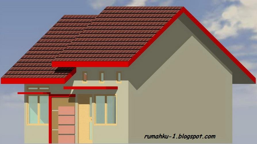 gambar 4 : denah desain rumah minimalis type 38/78