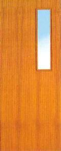 ประตูไม้อัดมีช่อกระจก